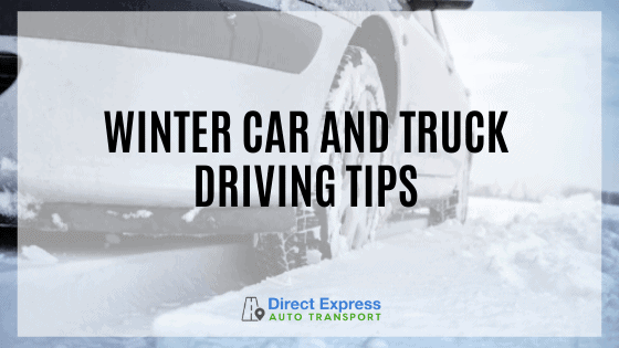 Winter Car And Truck Driving Tips