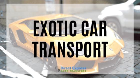 Exotic Car Transport