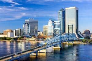 Jacksonville, FL downtown city skyline