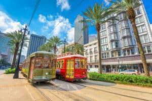 Trolley Cars in New Orleans LA