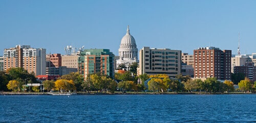 Image of the city of Madison, capitol of Wisconsin