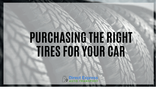 A Closeup View Of Tires - Purchasing The Right Tires For Your Car