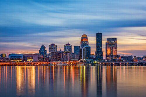 Louisville, Kentucky, skyline on the river
