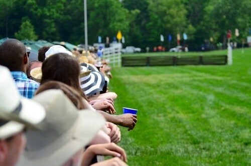 people looking at a steeplechase