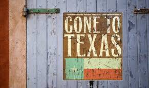"""Texas Car Shipping photo of barn sign """"Gone To Texas"""""""